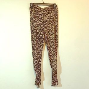 Socialite Tan Leopard Ruched Print Leggings